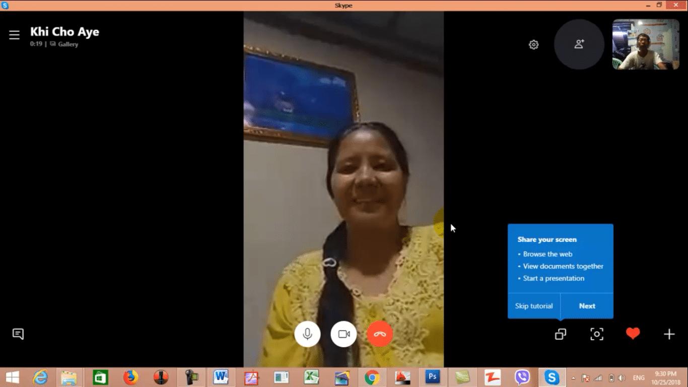 018 Skype-ဖြင့်-video-call-ခေါ်ပုံ