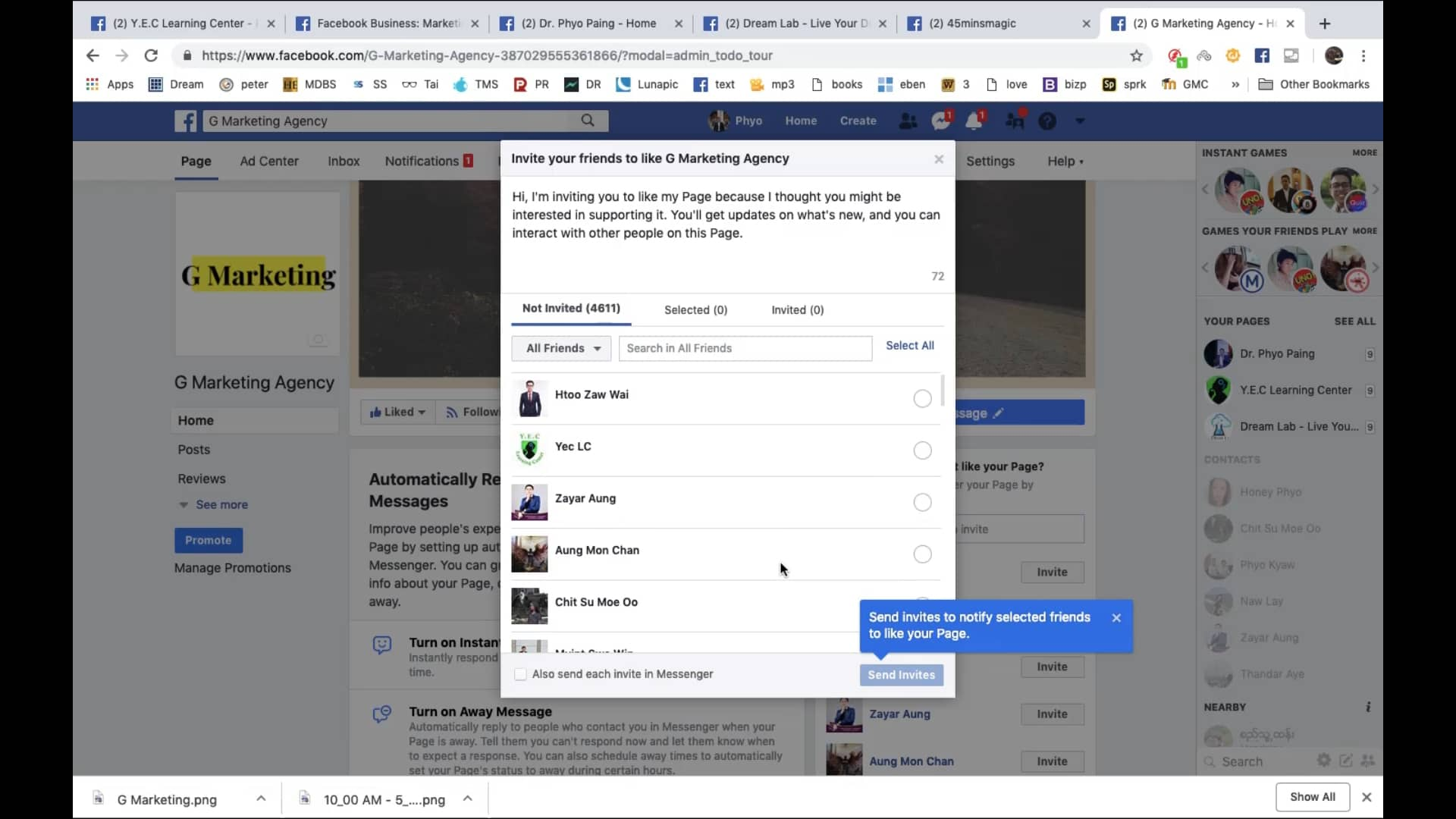 14. Page Like and Sending Invites