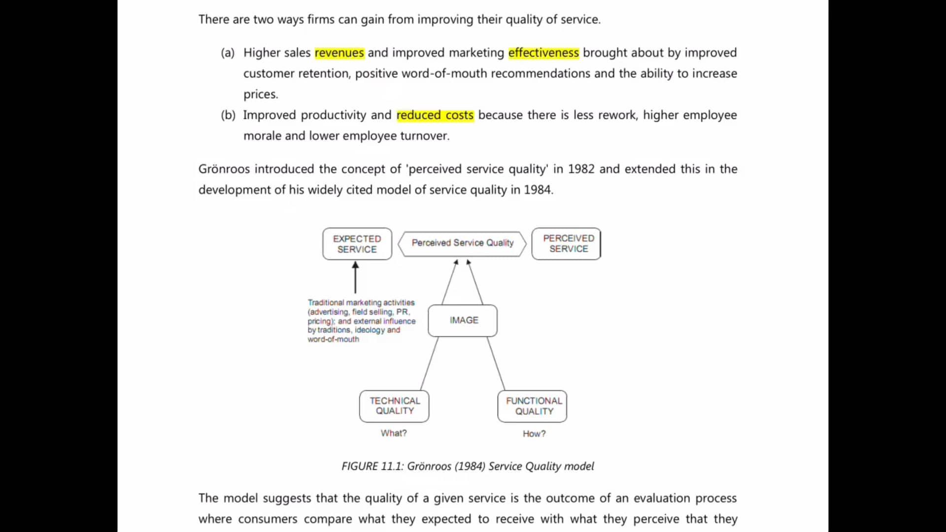 Ch 11 - Service Quality