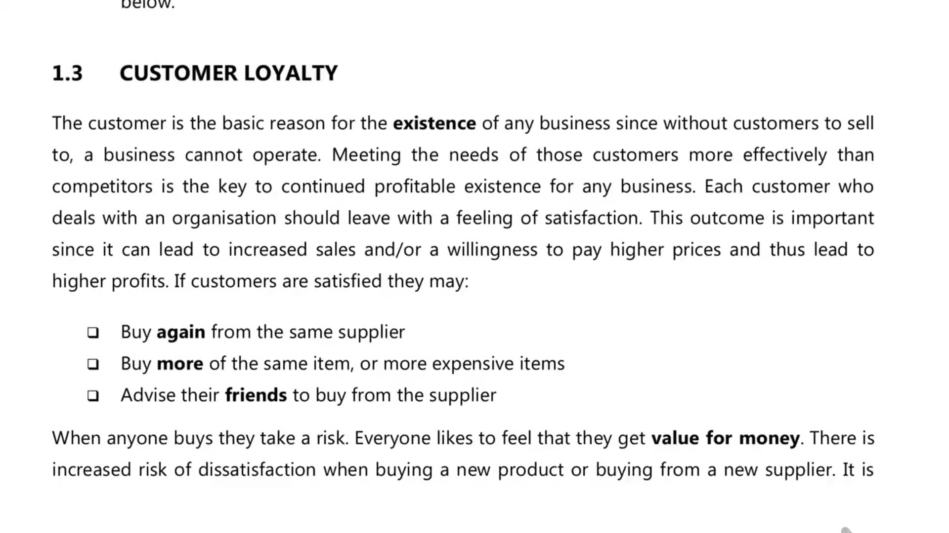 Ch 3 - Customer Loyalty