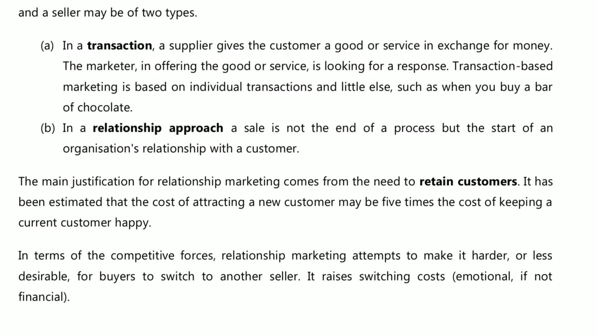 Ch 3 - Relationship Marketing
