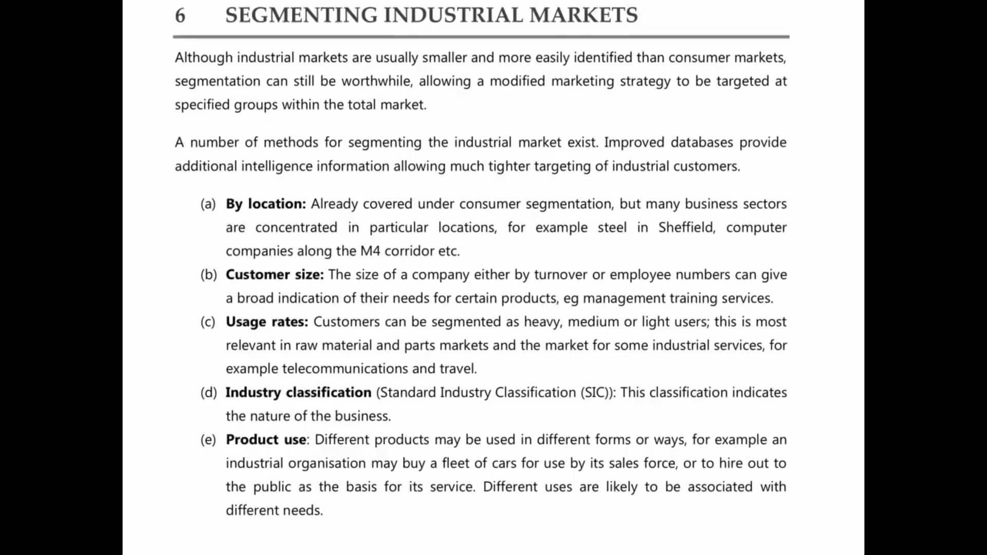 Ch 6. Segmenting Industry Market 6