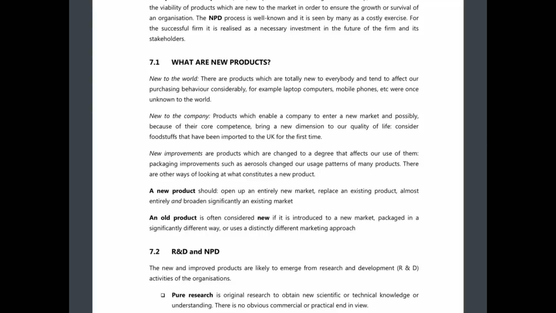 Ch 7 - New Product Development