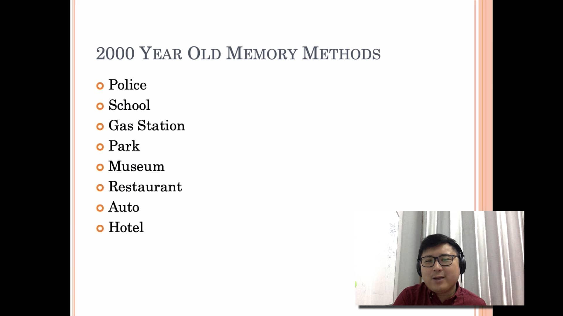 11. memory palace system