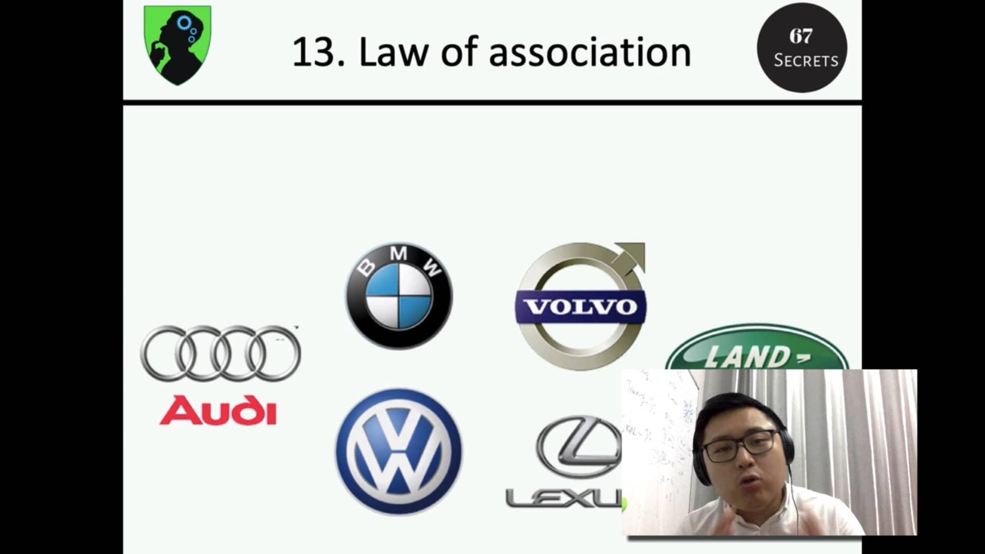 13. Law of association
