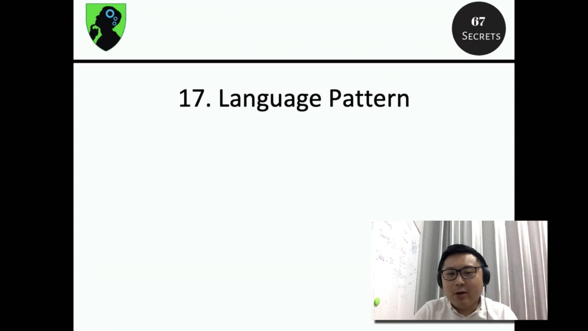 17. Language Pattern