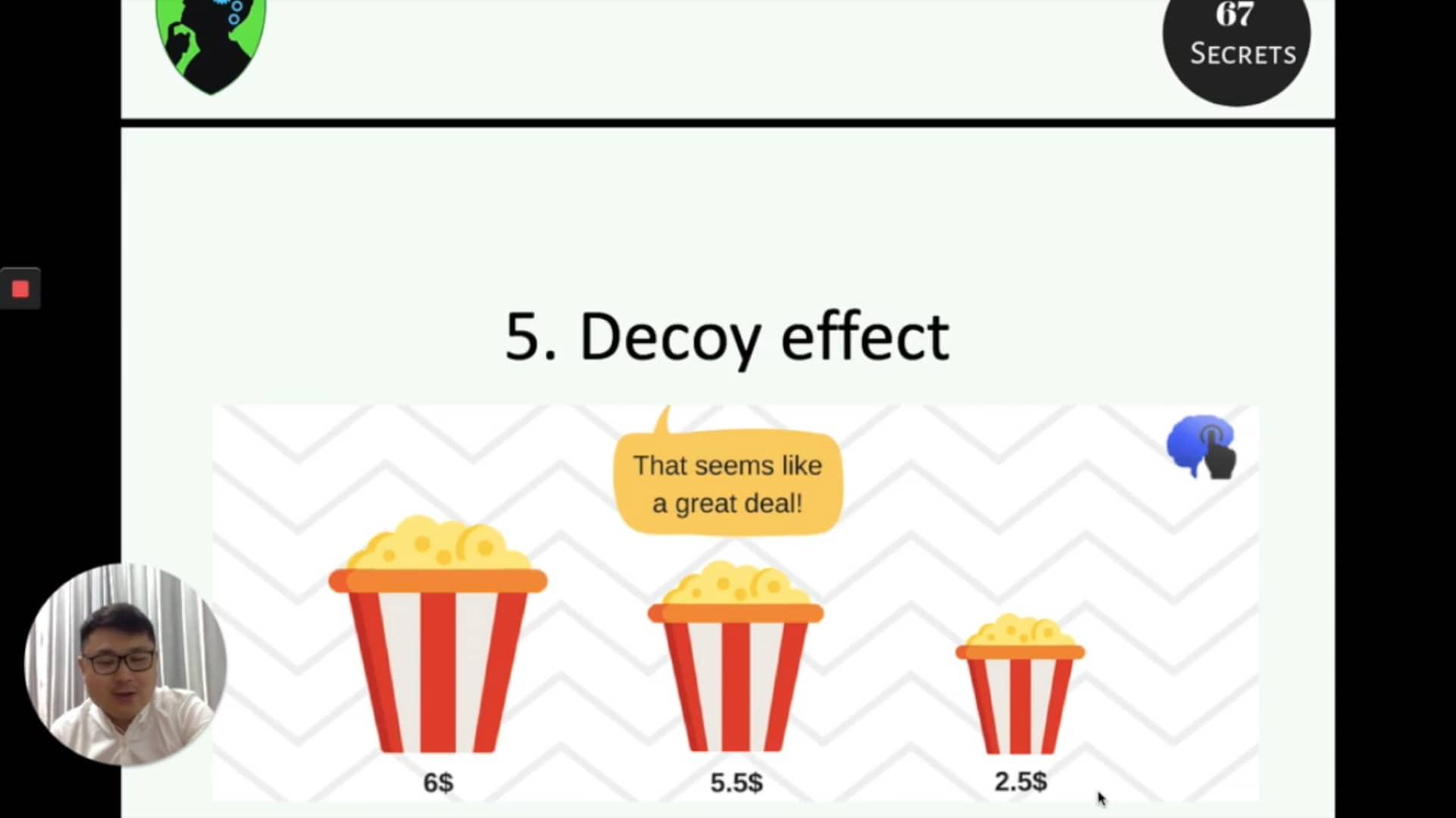 5. Decoy effect