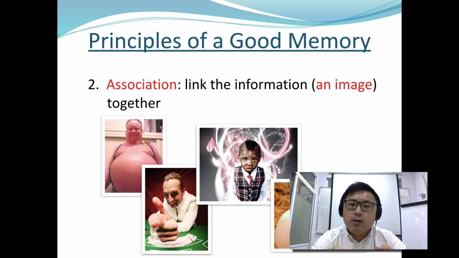 5. Secrets to memory training (Association)