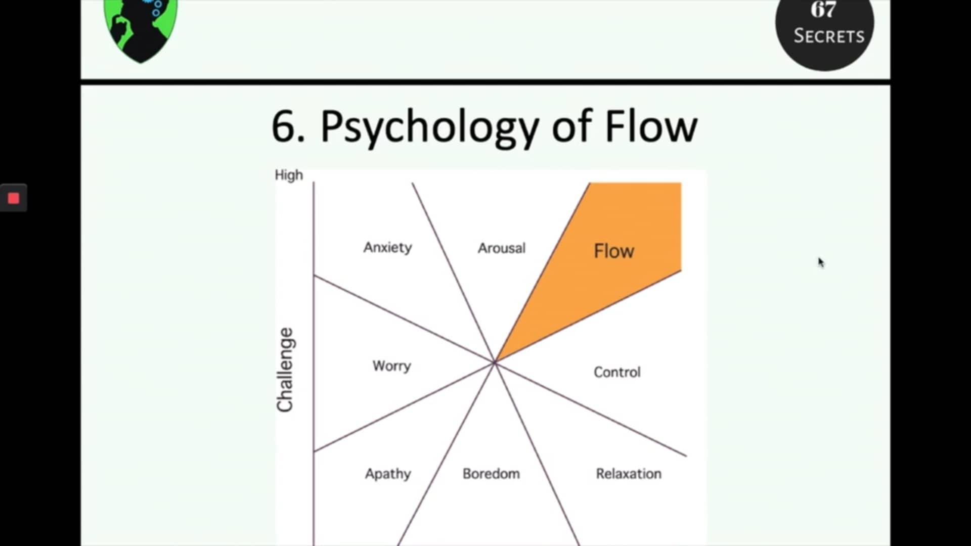 6. psychology of flow (67 Secrets)