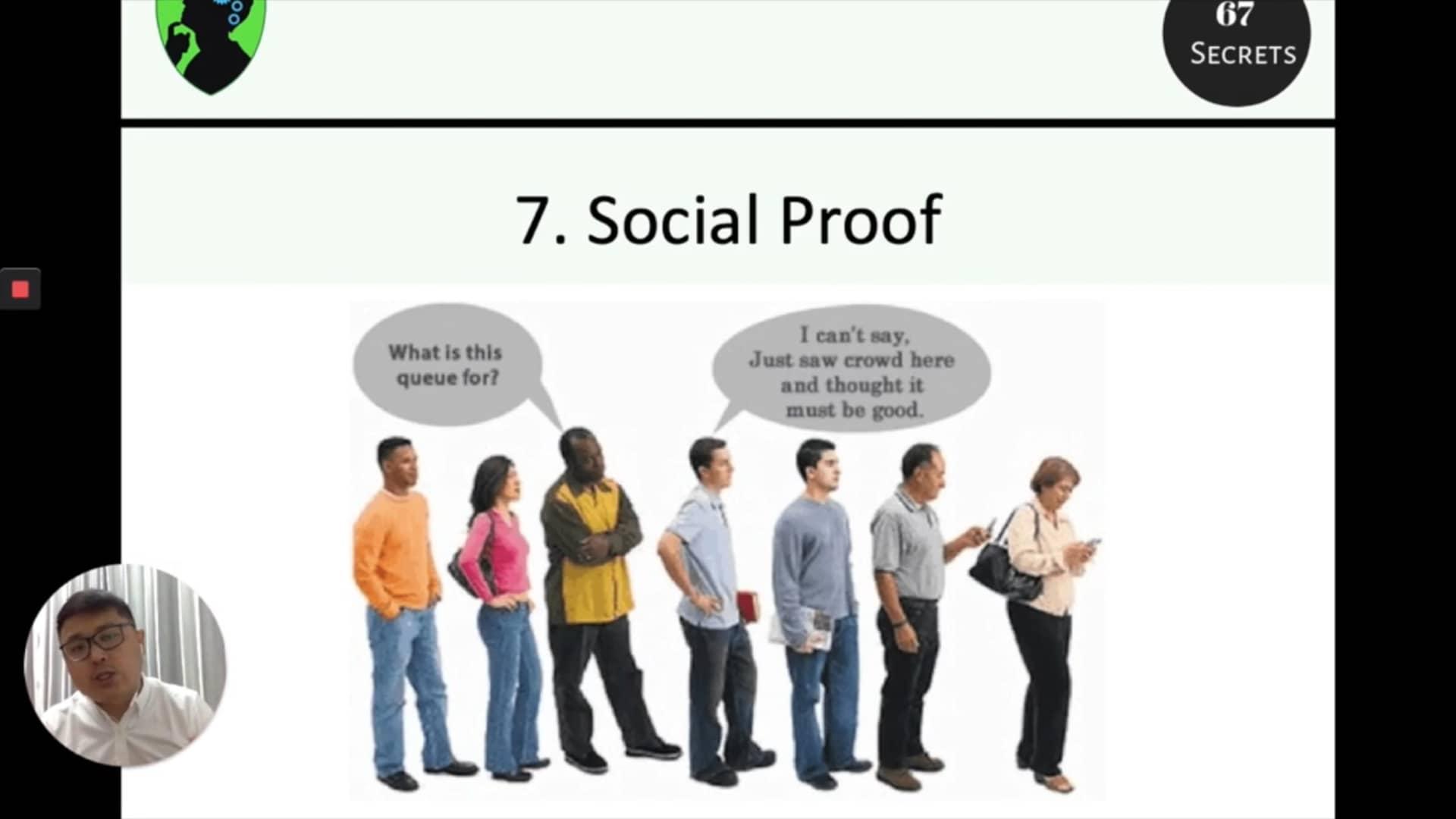 7. Social proof