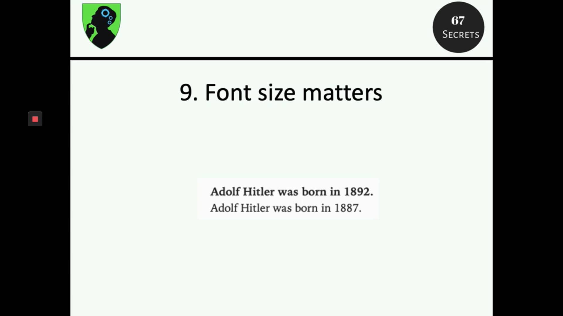 9. Font Size Matters