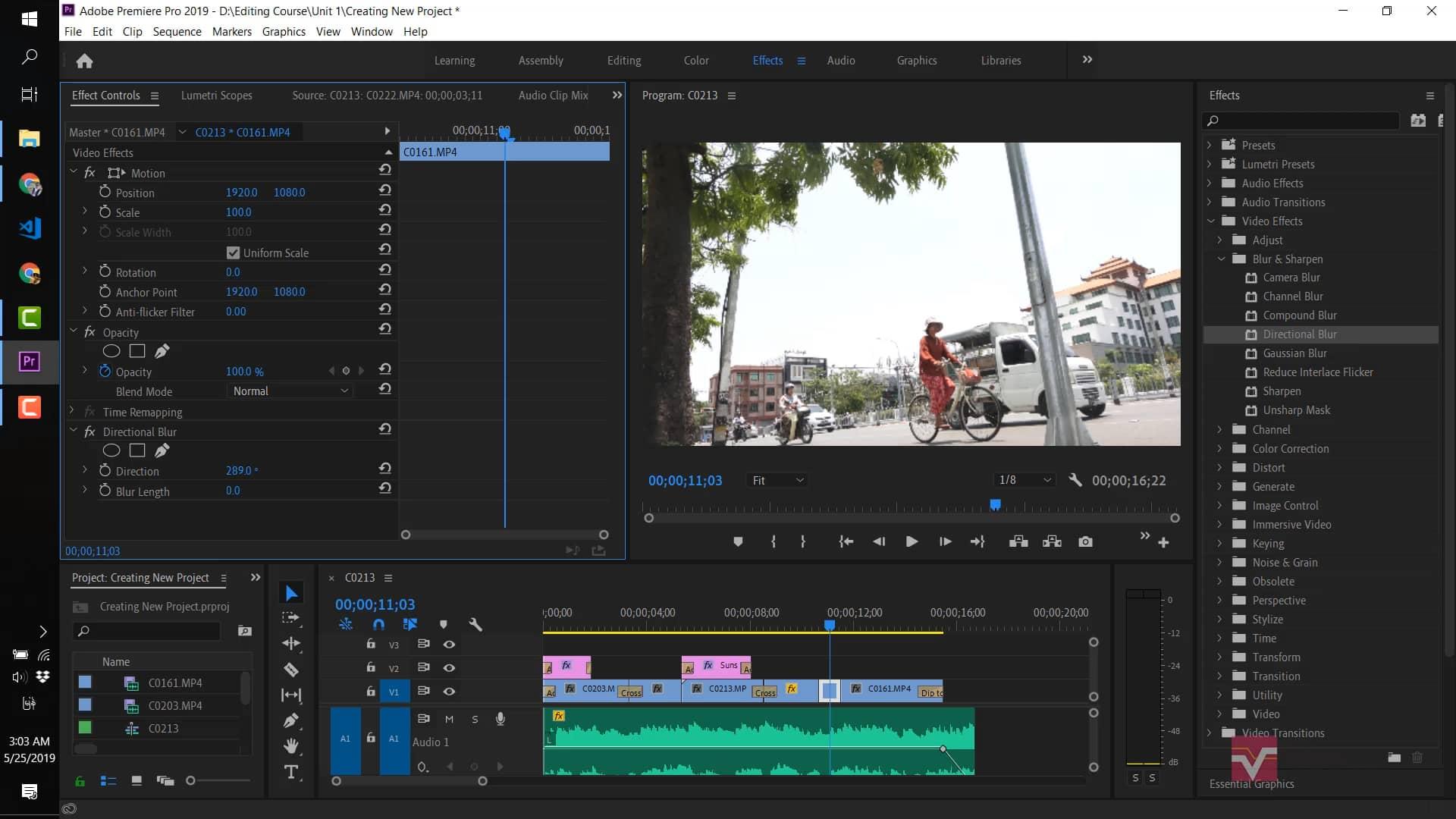 ၃.၀ Blur Video Effect အသုံးပြုခြင်း