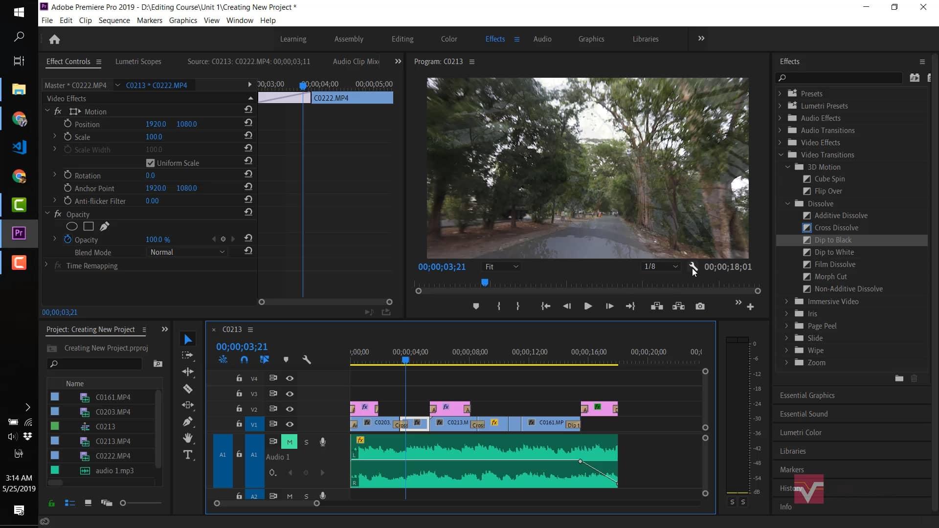 ၃.၁ Stabilize Video Effect အသုံးပြုခြင်း
