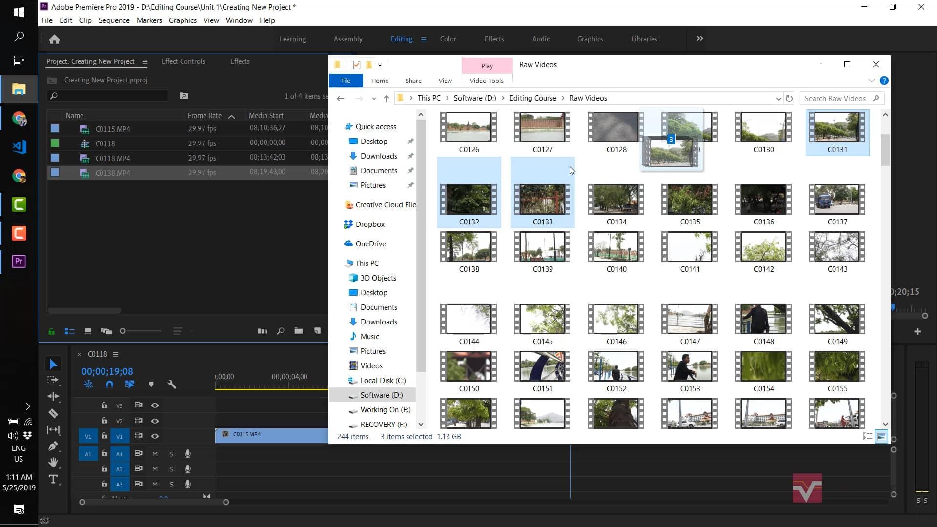 003 Editing လုပ်ရန် ဗီဒီယိုဖိုင်များထည့်ခြင်းနှင့် မူရင်းဗီဒီယိုမှ အသံဖိုင်များခွဲထုတ်ခြင်း