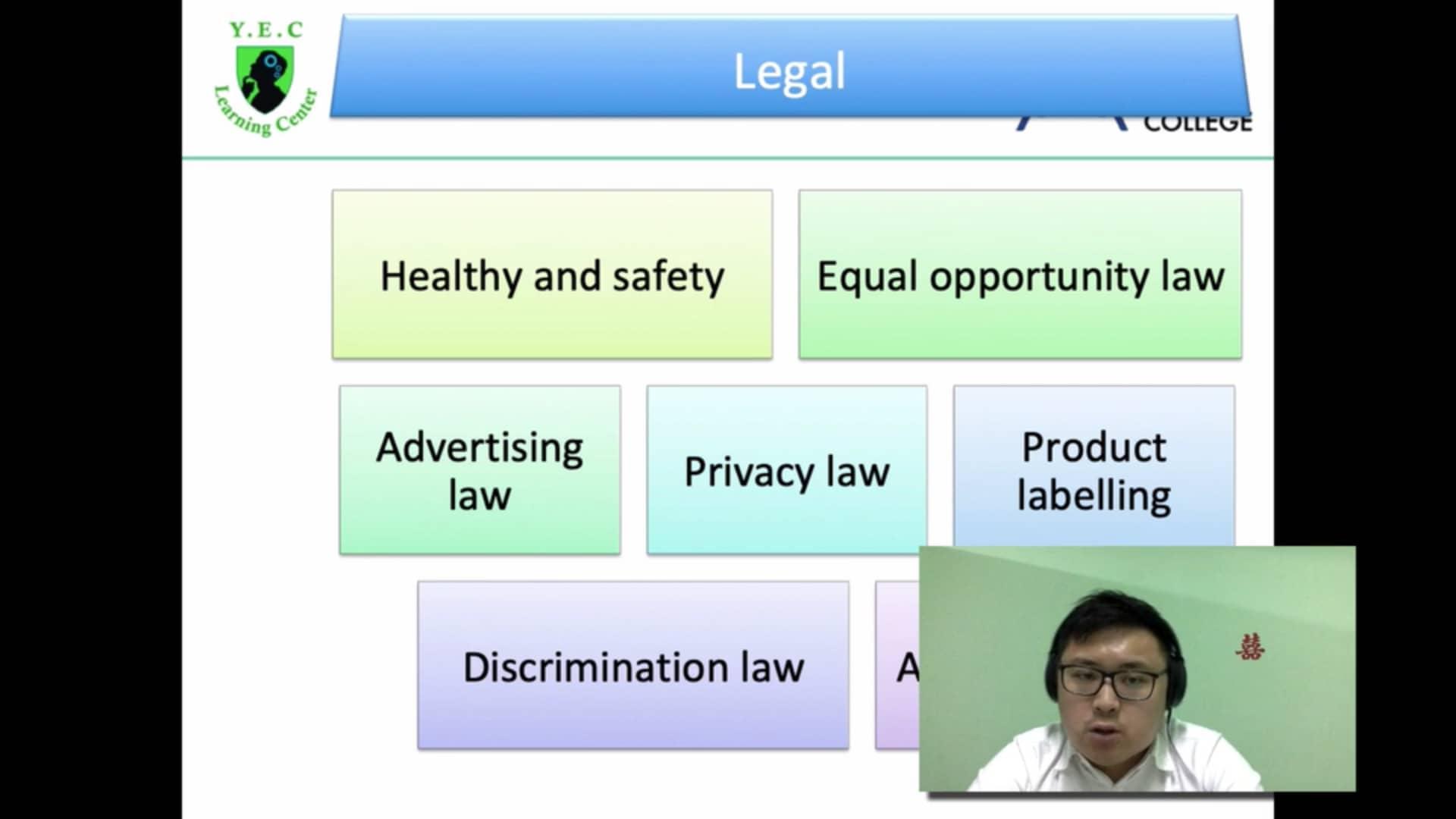 Legal Factors (BE 8)