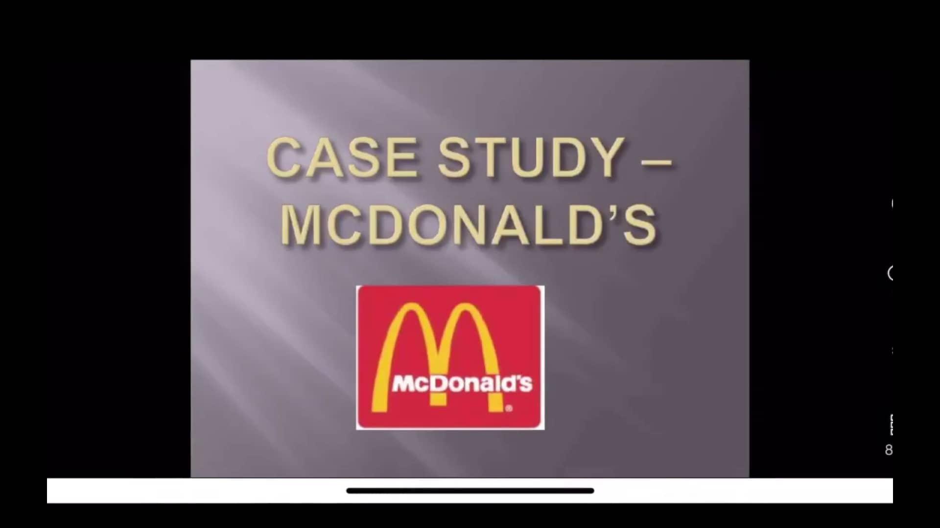 PEST McDonald Case Study BE 10