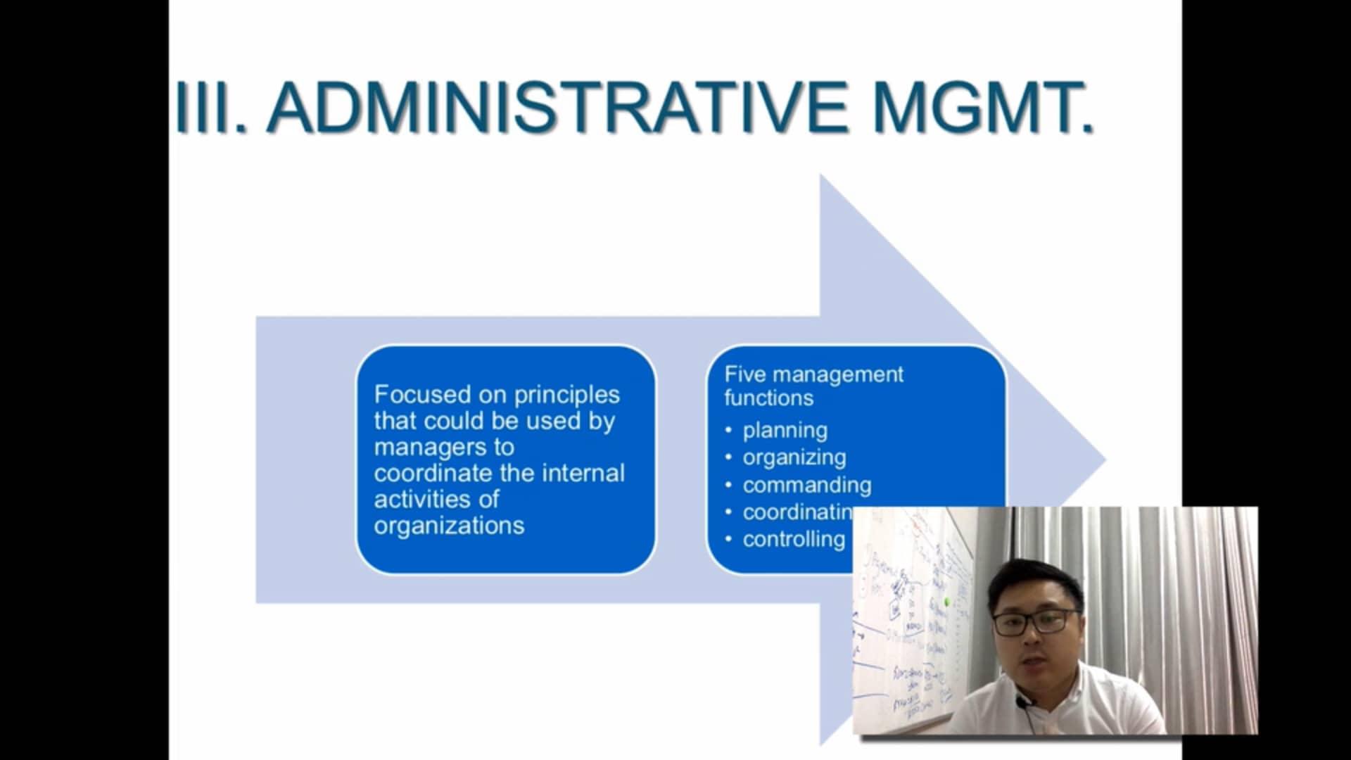 Administrative management OB 11