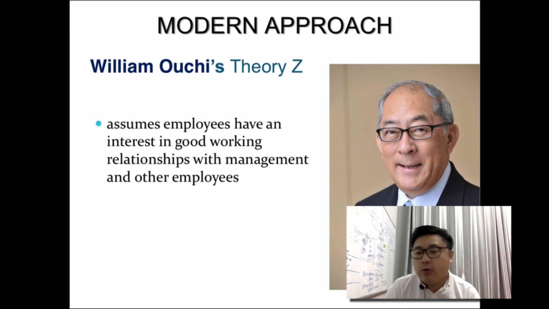 Modern management approach OB 13
