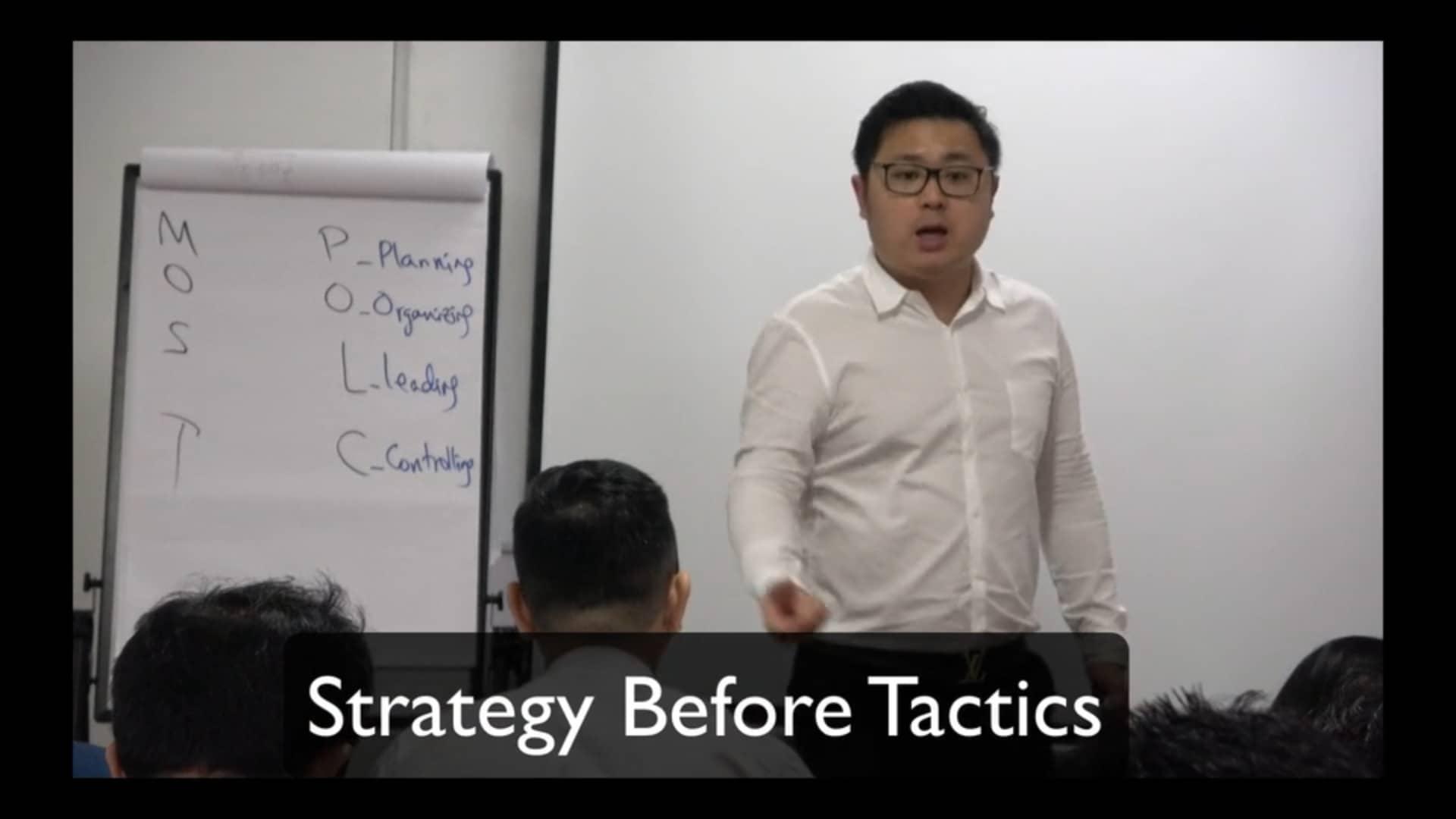 12. Strategy Before Tactics