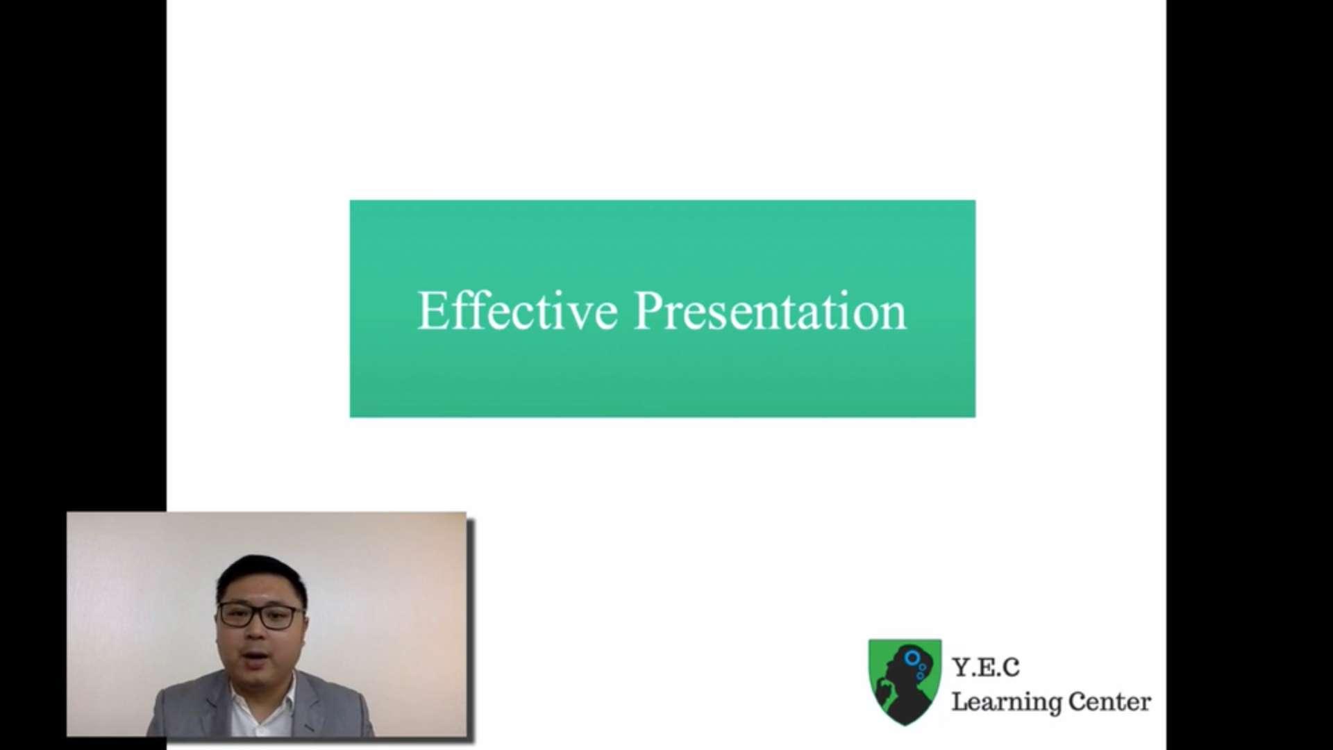 13. Presentation skills