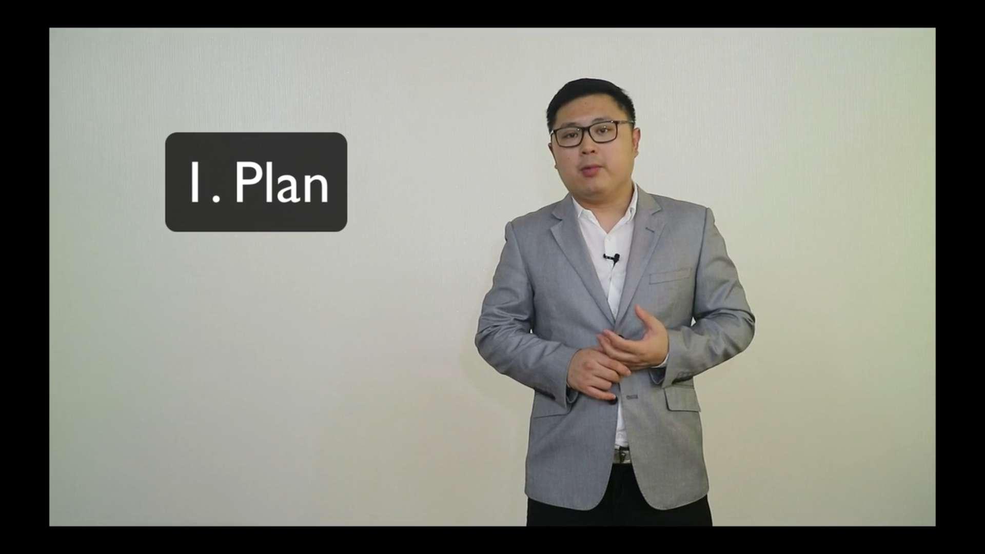 6. Plan for Presentation