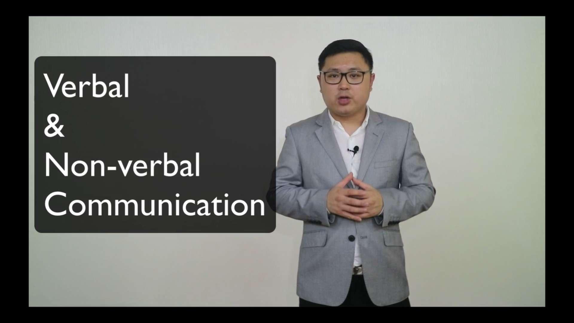8. Verbal & Non-verbal communication