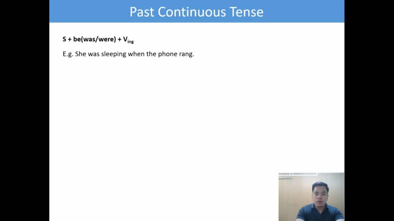 Lesson(25)Past Continuous Tense