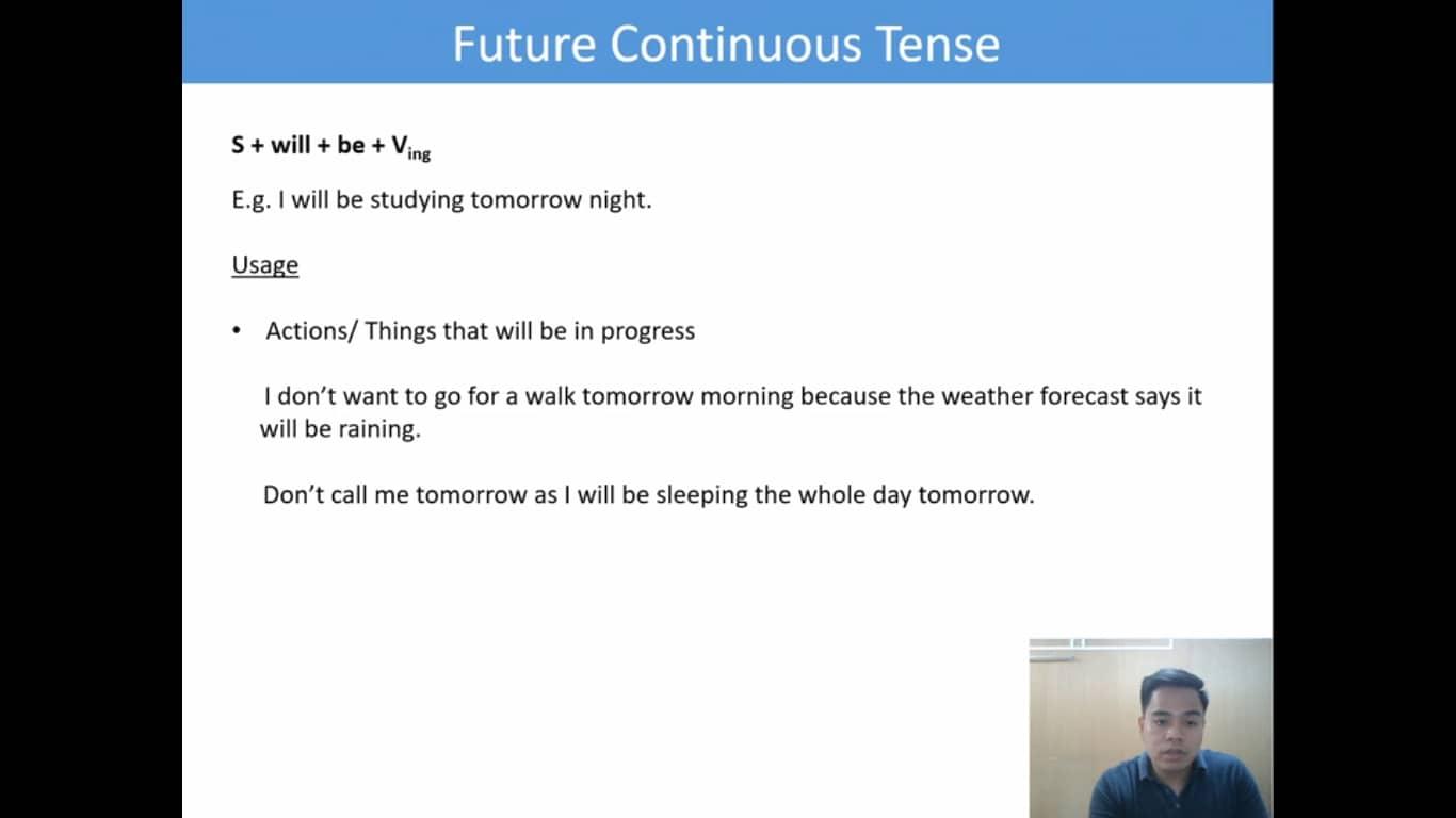 Lesson(26)Future Continuous Tense