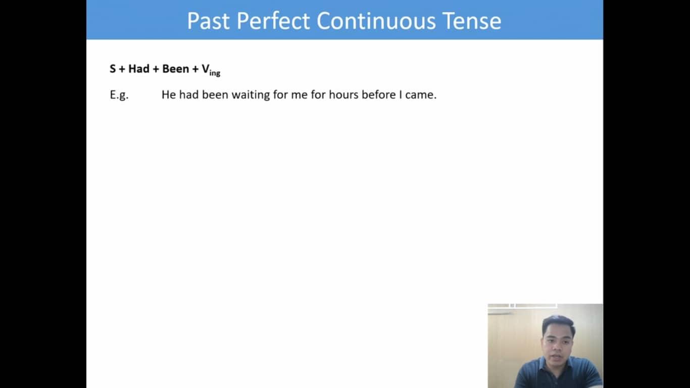 Lesson(31)Past Perfect Continuous Tense