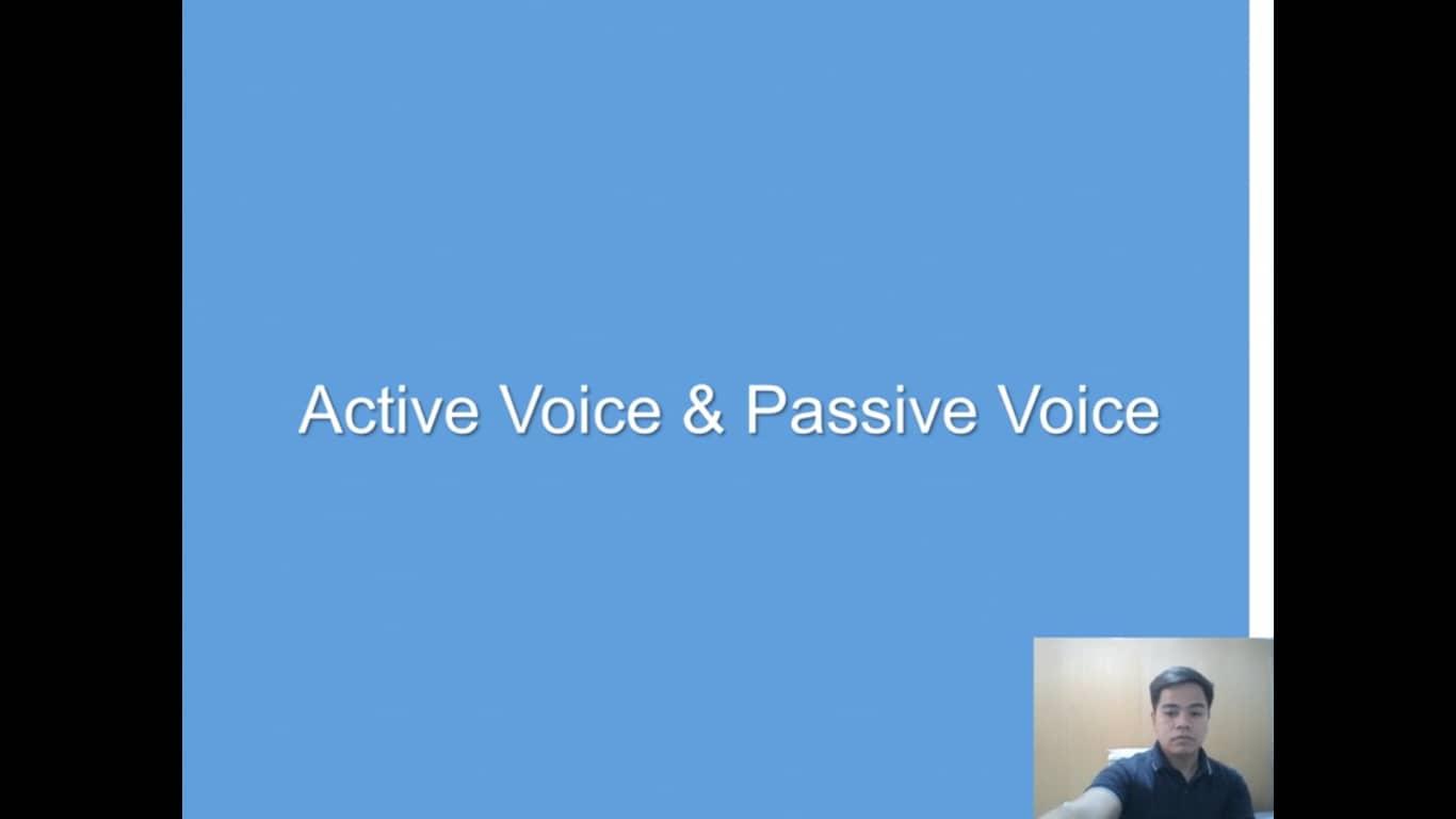 Lesson(38)Active&Passive Voices