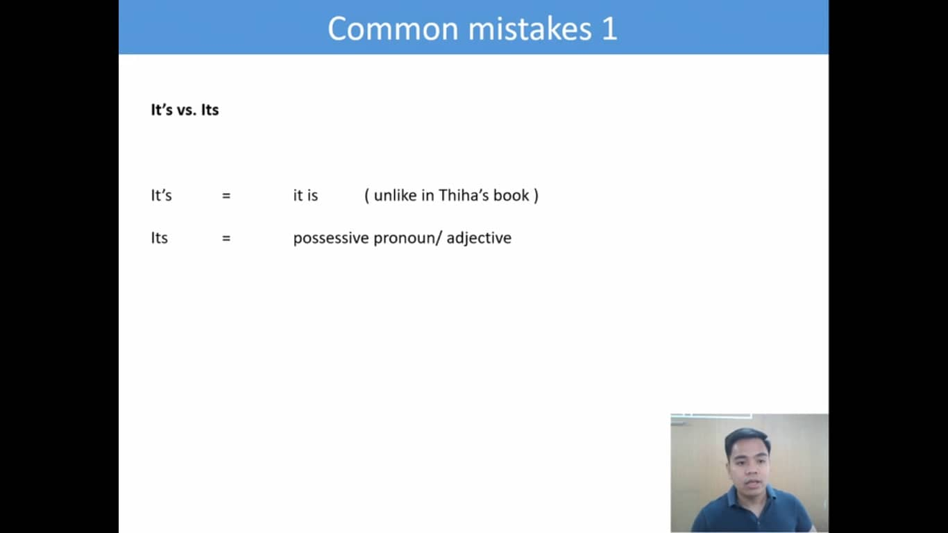 Lesson(46).common mistakes 1